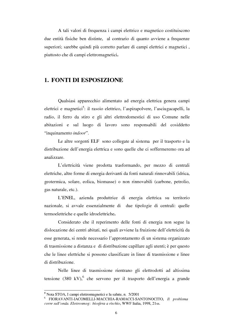 Anteprima della tesi: Inquinamento elettromagnetico da elettrodotti, Pagina 4