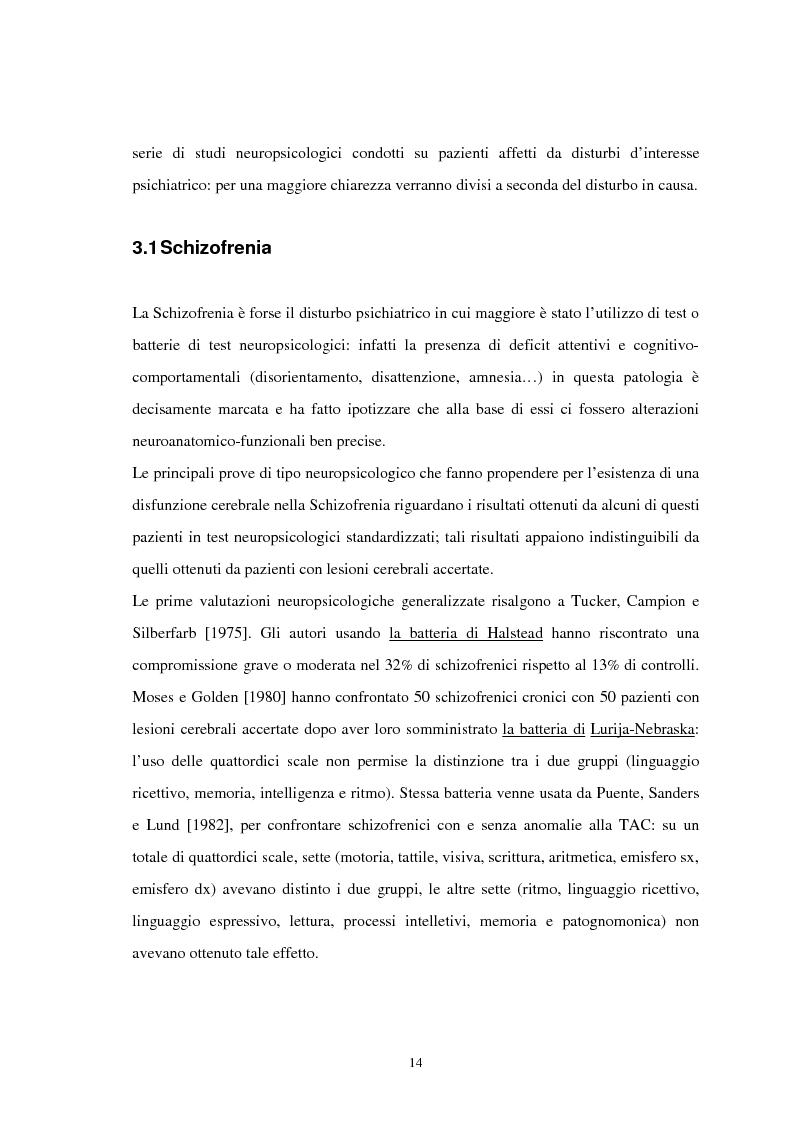 Anteprima della tesi: Aspetti neuropsicologici nei Disturbi della Condotta Alimentare (DCA): contributo personale, Pagina 11