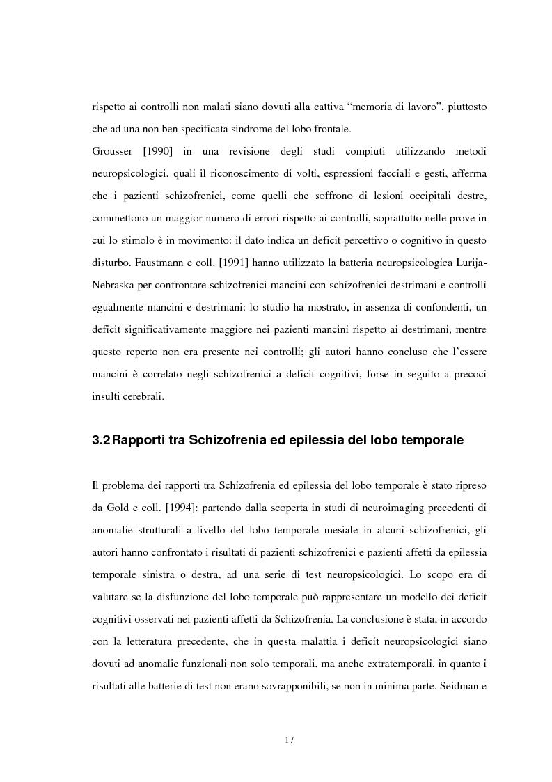 Anteprima della tesi: Aspetti neuropsicologici nei Disturbi della Condotta Alimentare (DCA): contributo personale, Pagina 14