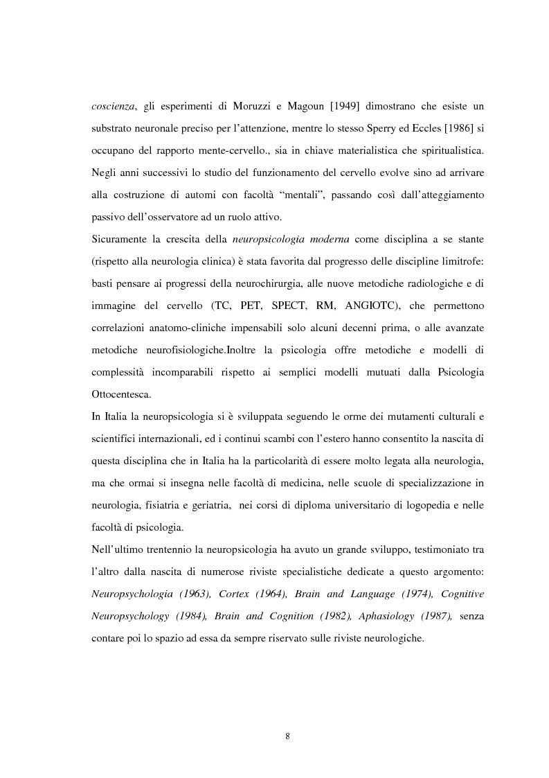 Anteprima della tesi: Aspetti neuropsicologici nei Disturbi della Condotta Alimentare (DCA): contributo personale, Pagina 5