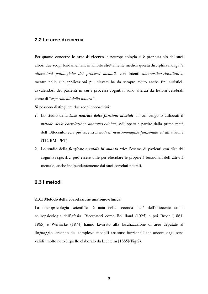 Anteprima della tesi: Aspetti neuropsicologici nei Disturbi della Condotta Alimentare (DCA): contributo personale, Pagina 6