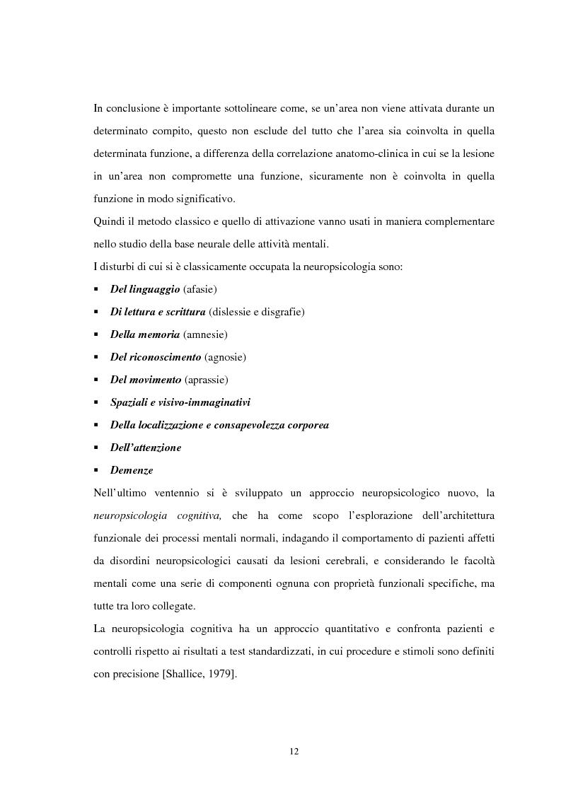Anteprima della tesi: Aspetti neuropsicologici nei Disturbi della Condotta Alimentare (DCA): contributo personale, Pagina 9