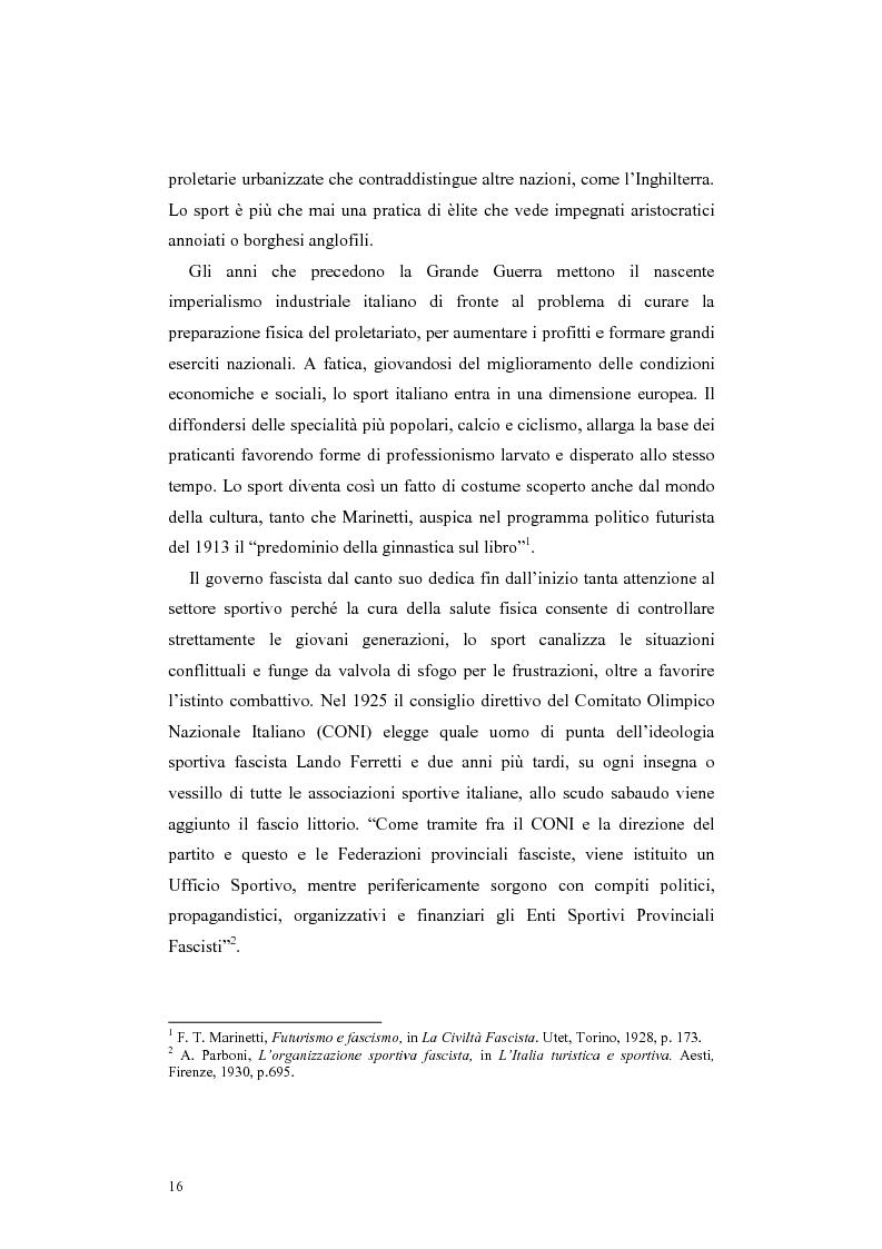 Anteprima della tesi: Colonia elioterapica padana. Sport e fascismo a Guastalla, Pagina 16