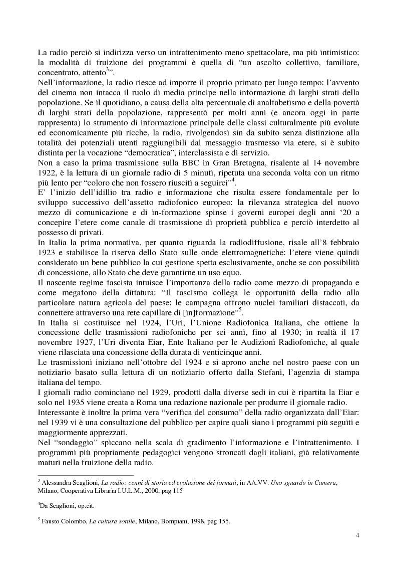 Anteprima della tesi: Radio Radicale e RadioRadicale.it: due strategie comunicative convergenti, Pagina 3