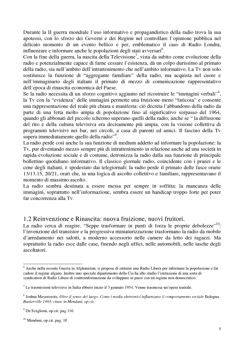 Anteprima della tesi: Radio Radicale e RadioRadicale.it: due strategie comunicative convergenti, Pagina 4