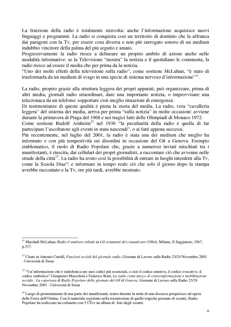Anteprima della tesi: Radio Radicale e RadioRadicale.it: due strategie comunicative convergenti, Pagina 5