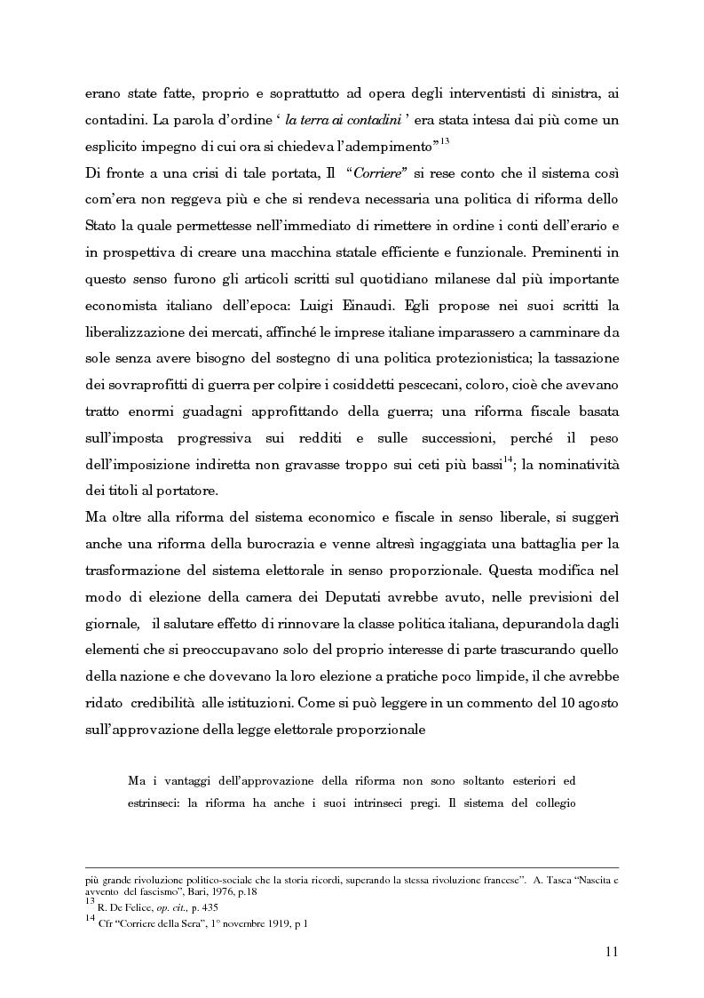 Anteprima della tesi: L'avvento del fascismo attraverso le pagine del ''Corriere della Sera'' (1919-1925), Pagina 10