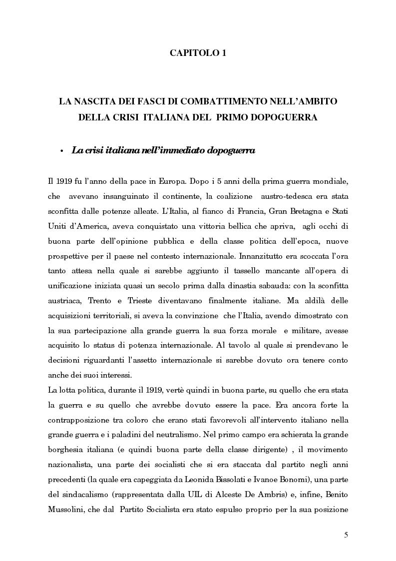 Anteprima della tesi: L'avvento del fascismo attraverso le pagine del ''Corriere della Sera'' (1919-1925), Pagina 4