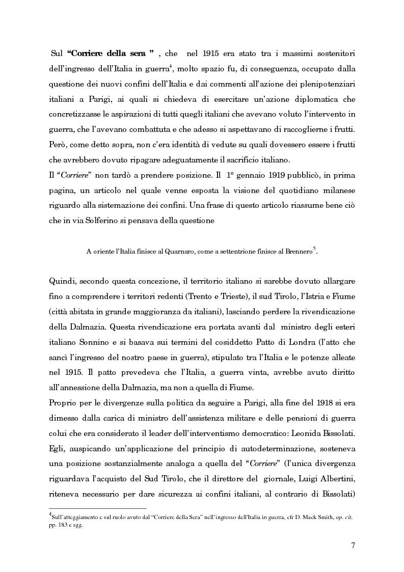 Anteprima della tesi: L'avvento del fascismo attraverso le pagine del ''Corriere della Sera'' (1919-1925), Pagina 6