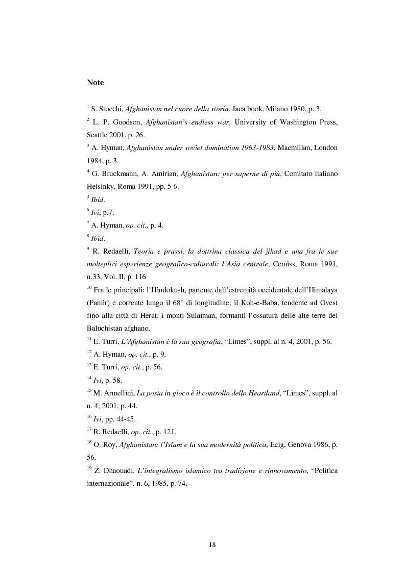 Anteprima della tesi: L'Afghanistan nelle relazioni internazionali, Pagina 12