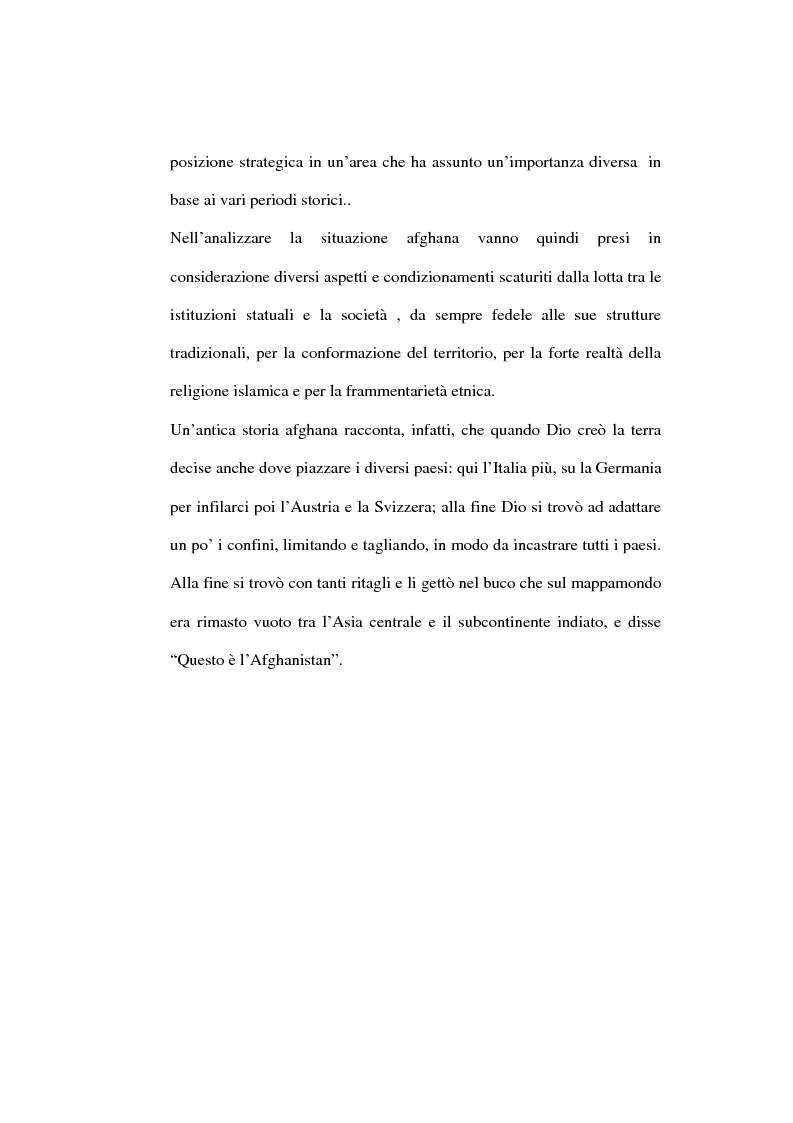 Anteprima della tesi: L'Afghanistan nelle relazioni internazionali, Pagina 2