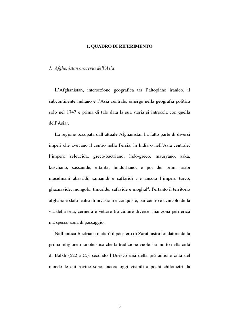 Anteprima della tesi: L'Afghanistan nelle relazioni internazionali, Pagina 3