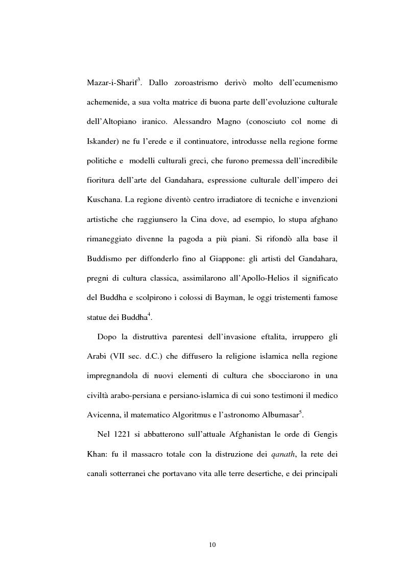 Anteprima della tesi: L'Afghanistan nelle relazioni internazionali, Pagina 4