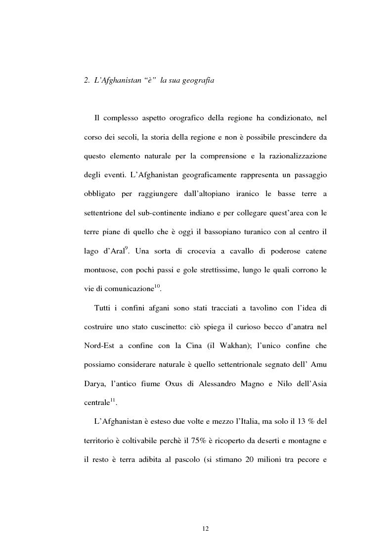 Anteprima della tesi: L'Afghanistan nelle relazioni internazionali, Pagina 6