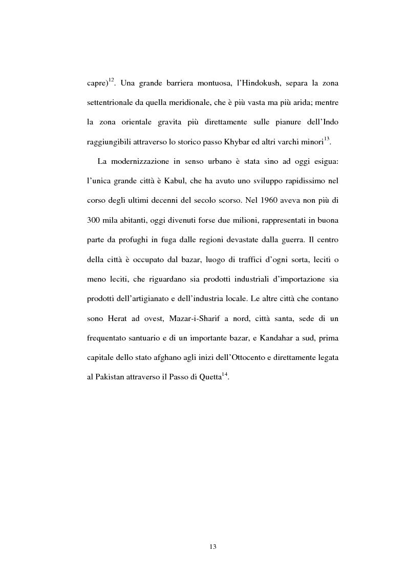 Anteprima della tesi: L'Afghanistan nelle relazioni internazionali, Pagina 7