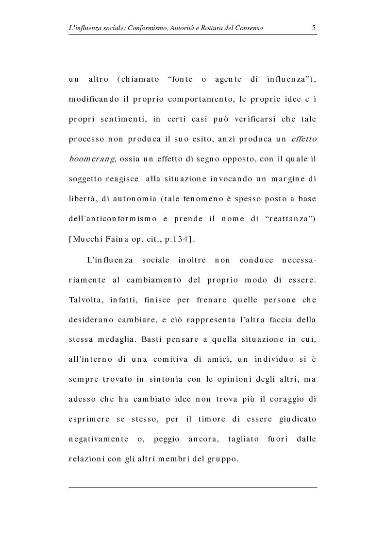 Anteprima della tesi: L'influenza sociale: conformismo, autorità e rottura del consenso, Pagina 10