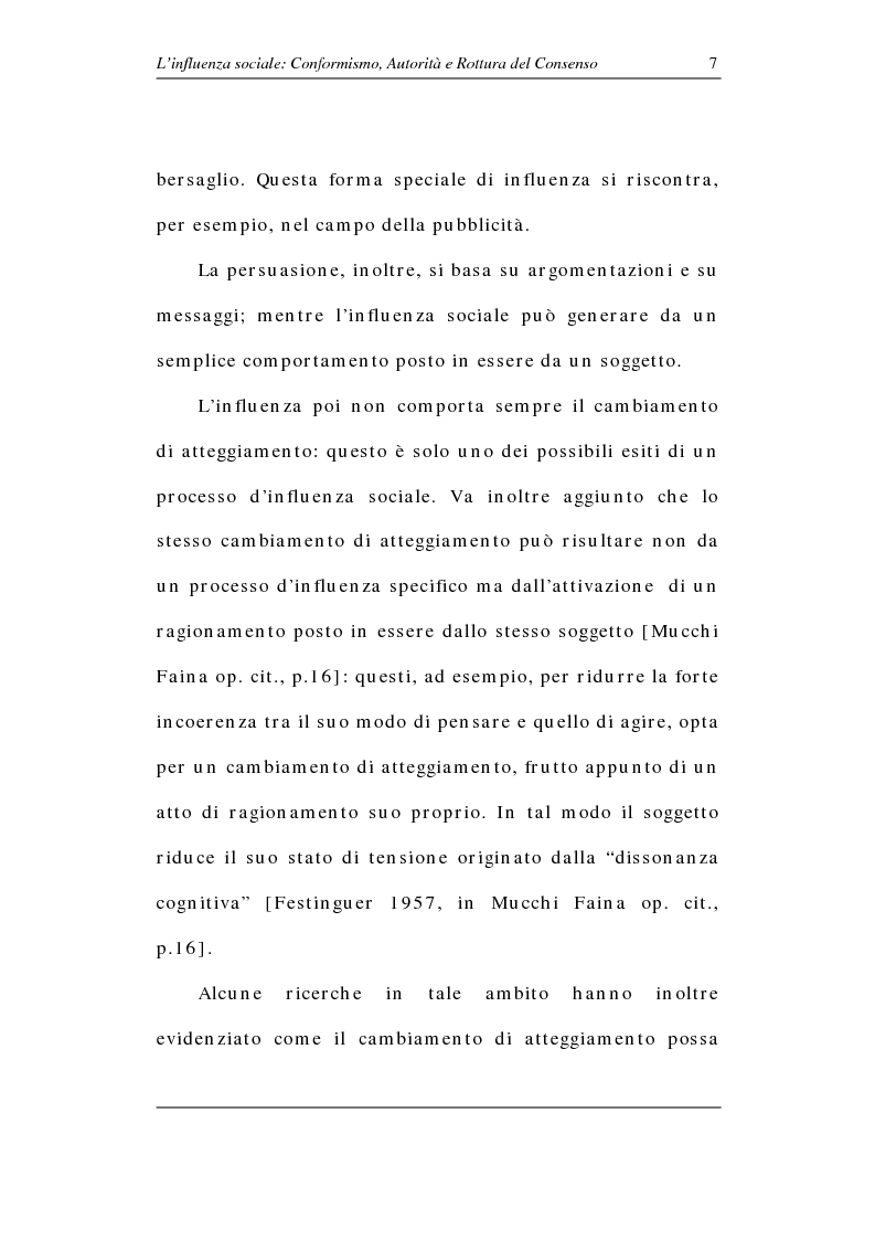 Anteprima della tesi: L'influenza sociale: conformismo, autorità e rottura del consenso, Pagina 12