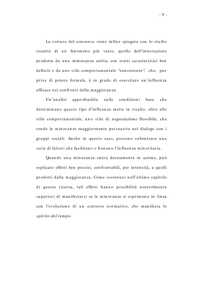 Anteprima della tesi: L'influenza sociale: conformismo, autorità e rottura del consenso, Pagina 5