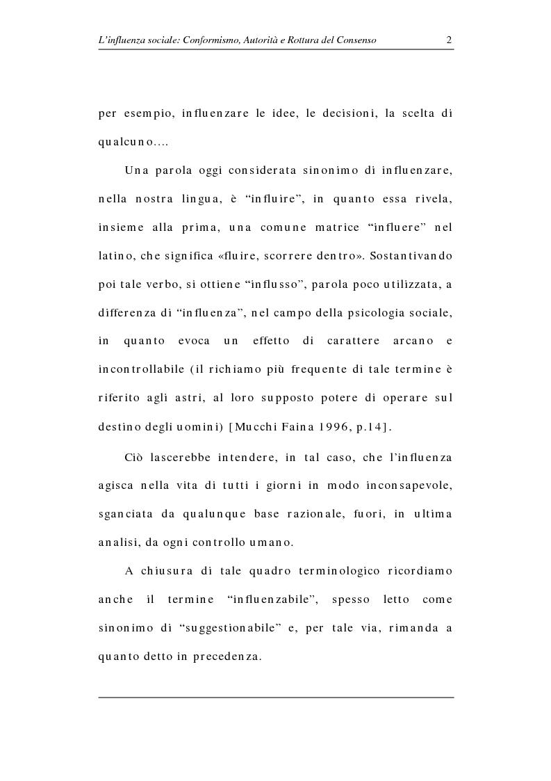 Anteprima della tesi: L'influenza sociale: conformismo, autorità e rottura del consenso, Pagina 7