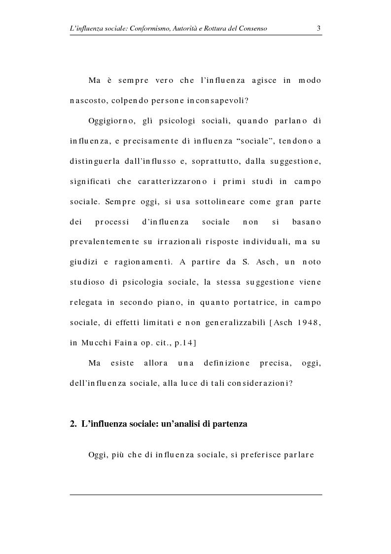 Anteprima della tesi: L'influenza sociale: conformismo, autorità e rottura del consenso, Pagina 8