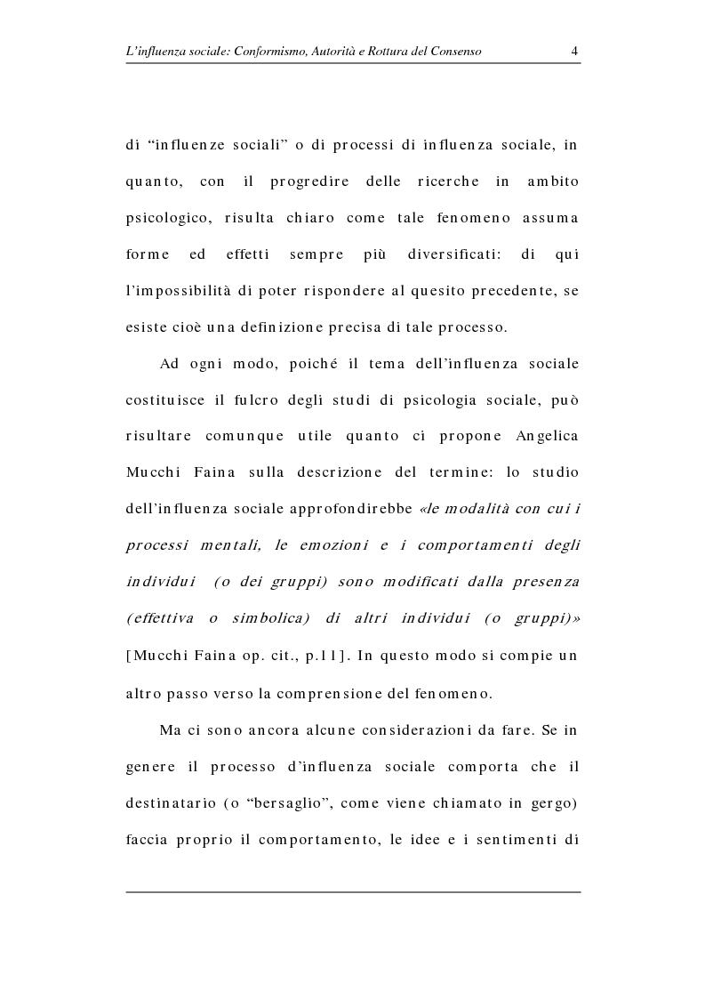 Anteprima della tesi: L'influenza sociale: conformismo, autorità e rottura del consenso, Pagina 9
