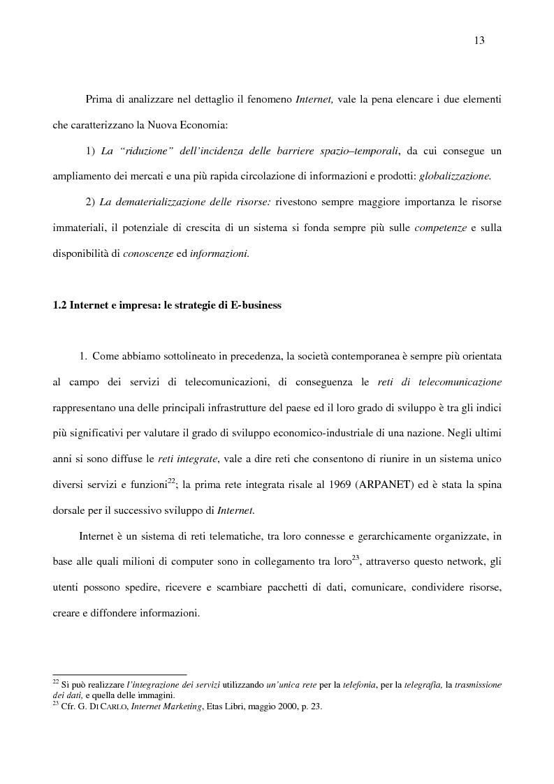 Anteprima della tesi: Le nuove strategie di Internet marketing e di commercio elettronico, Pagina 11