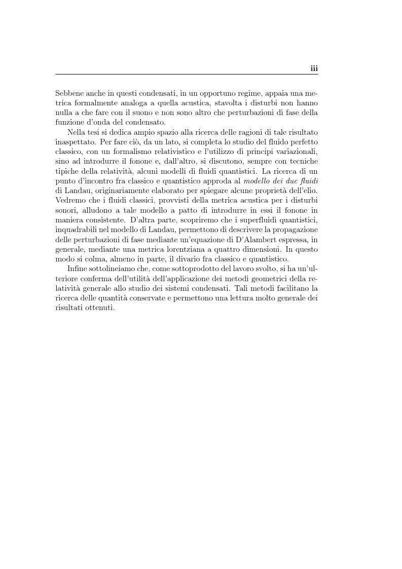 Anteprima della tesi: Analogie idrodinamiche nella fisica dei buchi neri, Pagina 3