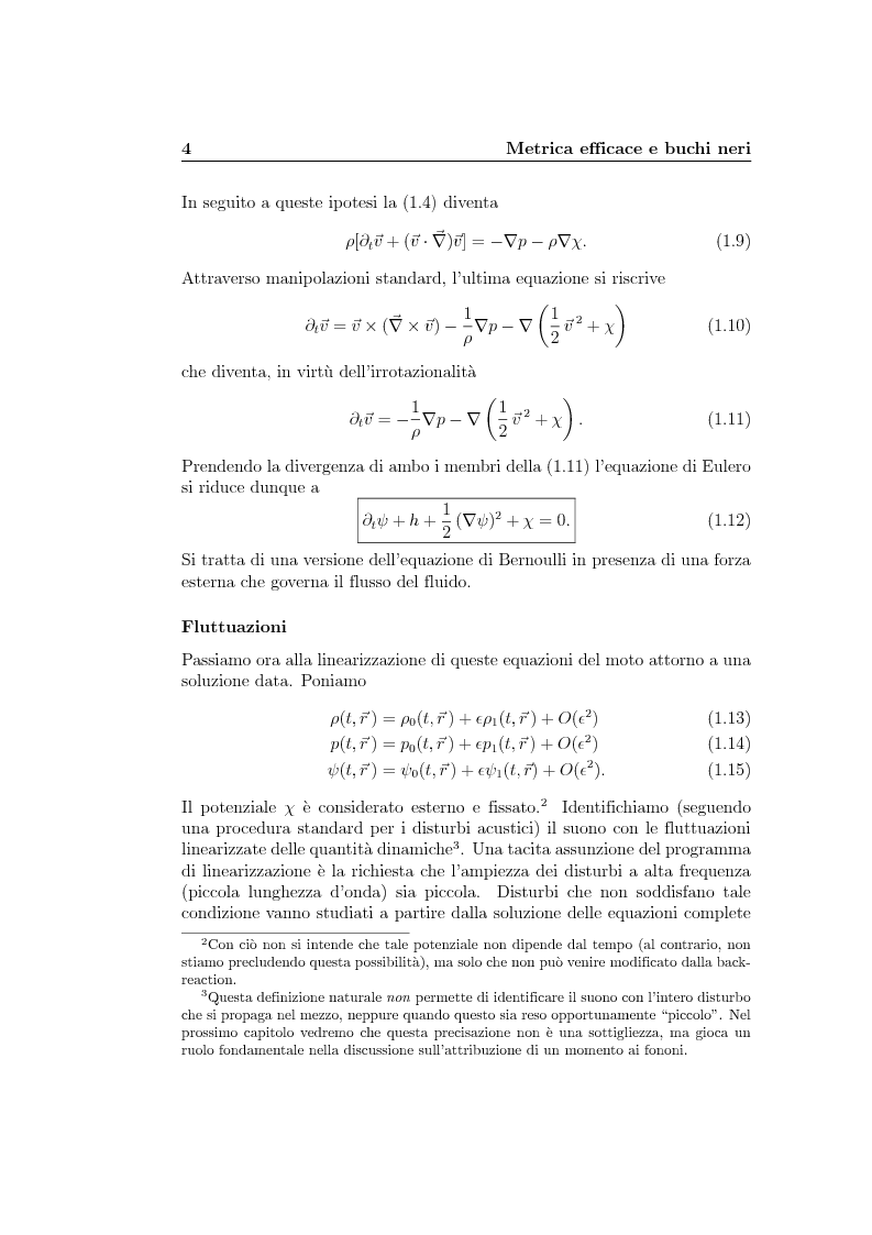Anteprima della tesi: Analogie idrodinamiche nella fisica dei buchi neri, Pagina 7