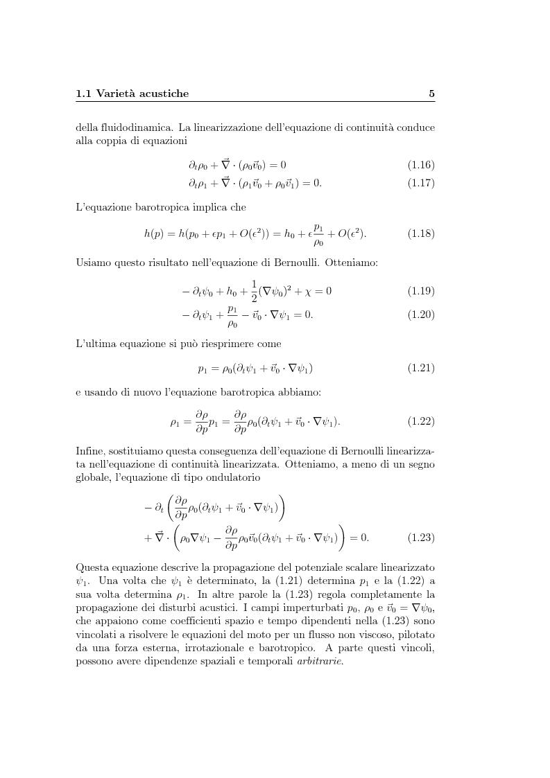 Anteprima della tesi: Analogie idrodinamiche nella fisica dei buchi neri, Pagina 8