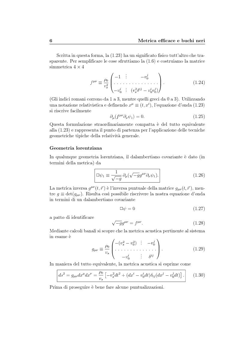 Anteprima della tesi: Analogie idrodinamiche nella fisica dei buchi neri, Pagina 9
