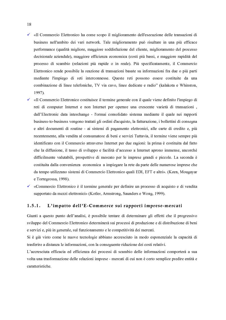 Anteprima della tesi: E-Commerce: nuovi scenari per nuovi mercati, Pagina 10