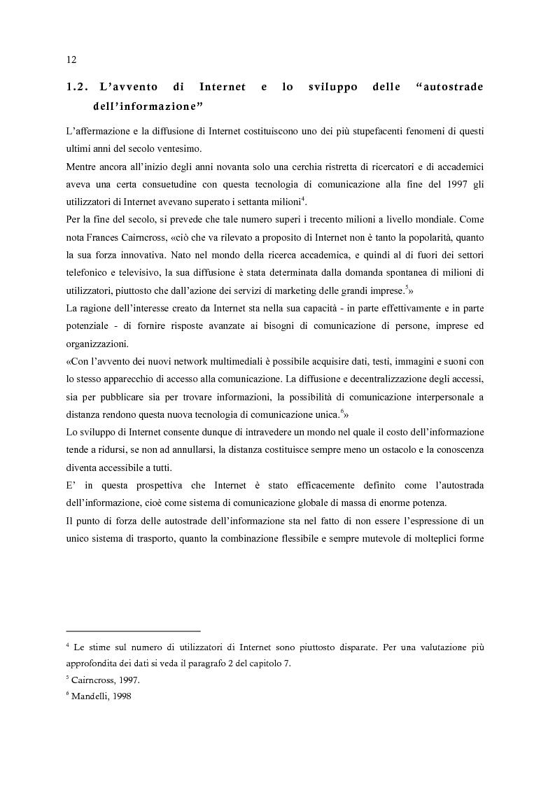 Anteprima della tesi: E-Commerce: nuovi scenari per nuovi mercati, Pagina 4