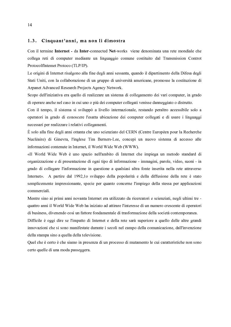 Anteprima della tesi: E-Commerce: nuovi scenari per nuovi mercati, Pagina 6