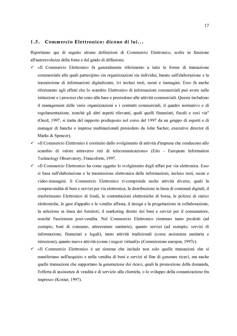 Anteprima della tesi: E-Commerce: nuovi scenari per nuovi mercati, Pagina 9
