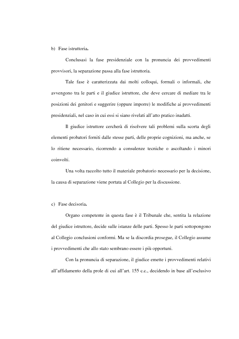 Anteprima della tesi: L'affidamento della prole nella separazione giudiziale dei coniugi, Pagina 11