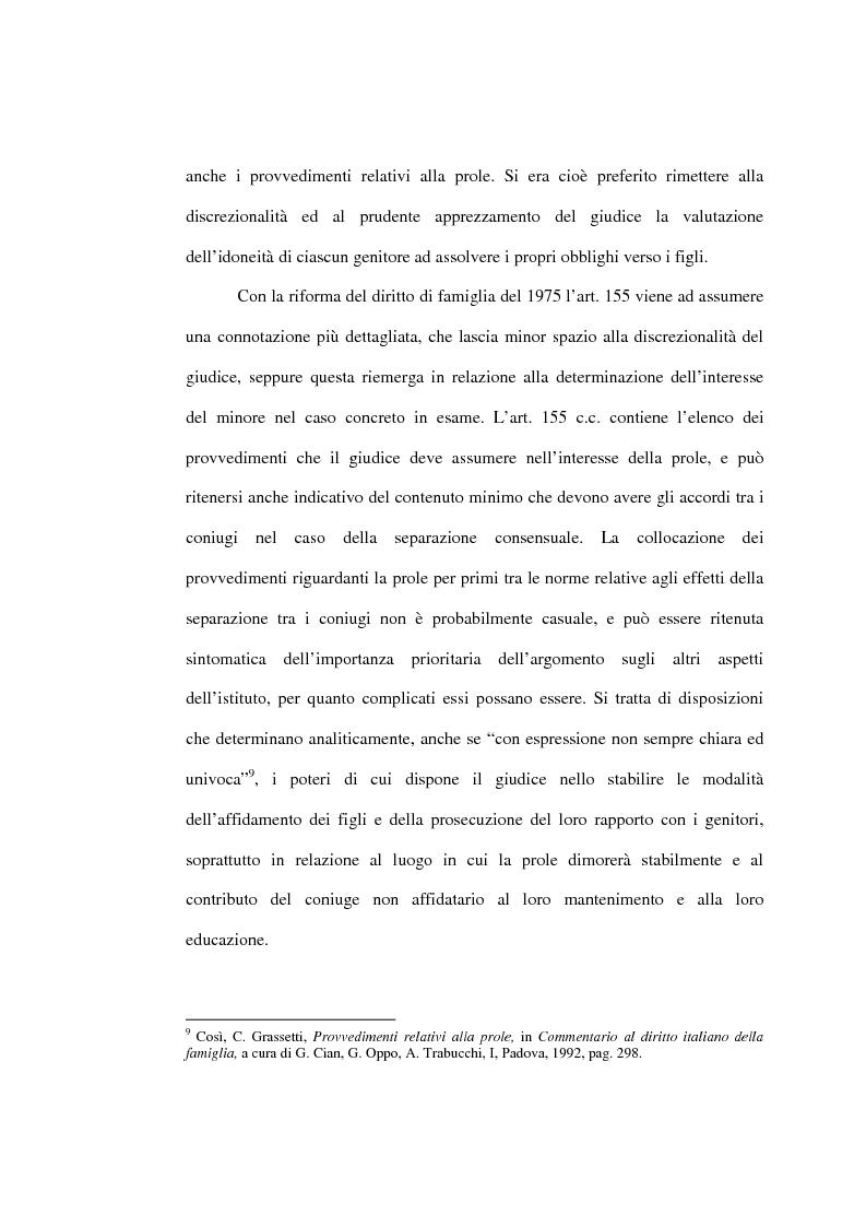 Anteprima della tesi: L'affidamento della prole nella separazione giudiziale dei coniugi, Pagina 14
