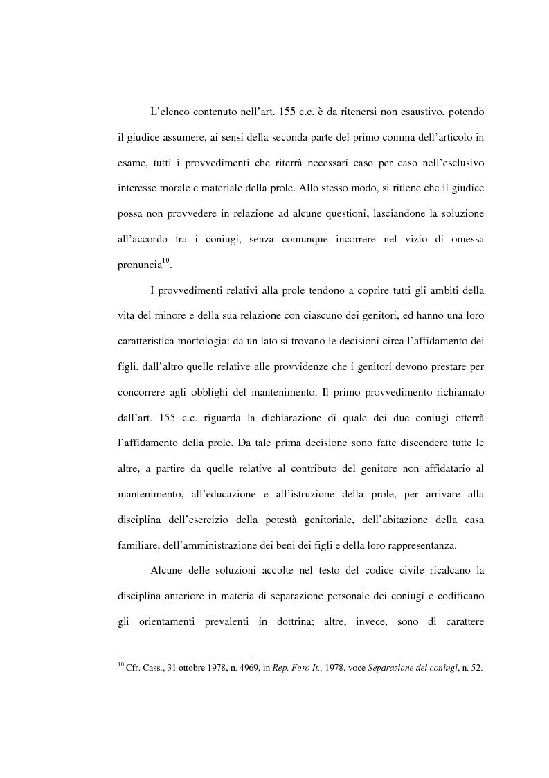 Anteprima della tesi: L'affidamento della prole nella separazione giudiziale dei coniugi, Pagina 15