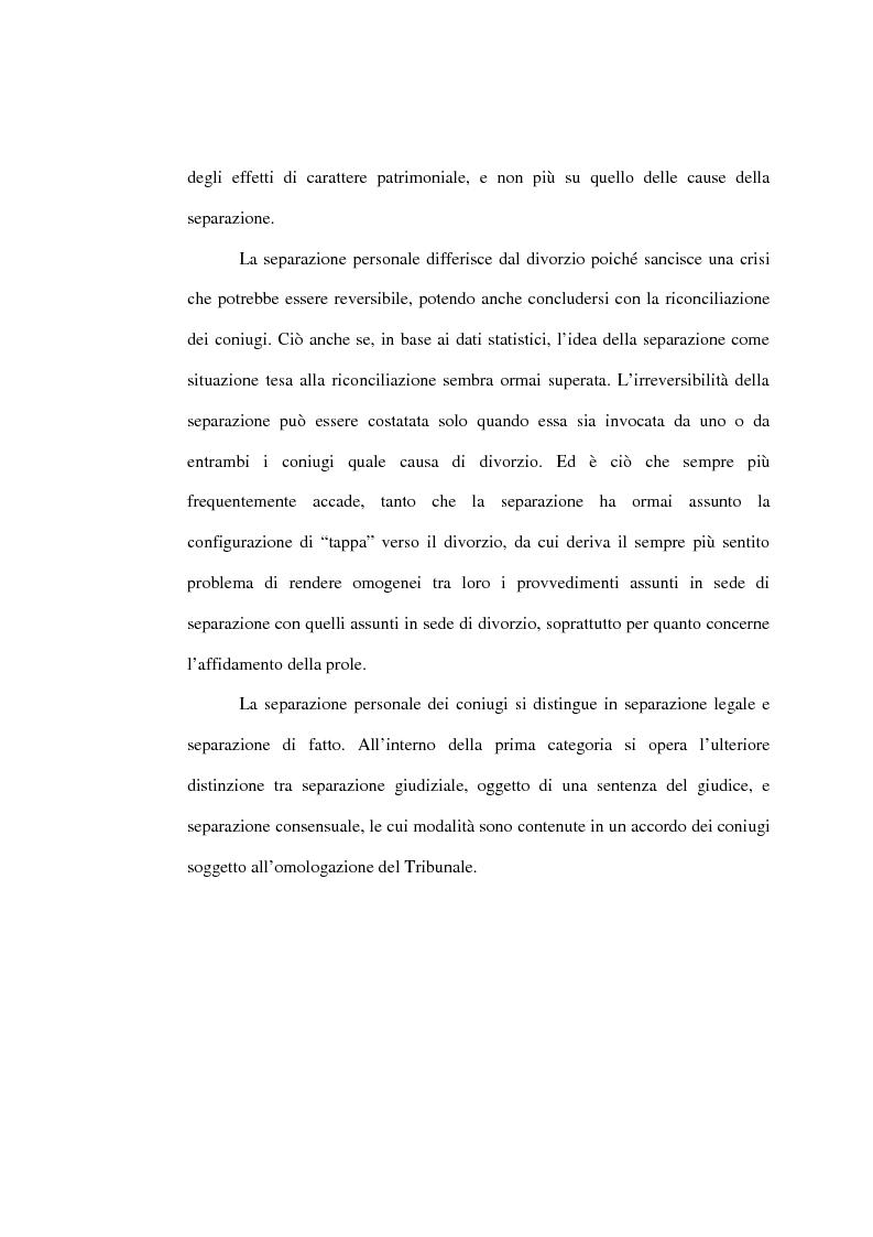 Anteprima della tesi: L'affidamento della prole nella separazione giudiziale dei coniugi, Pagina 6