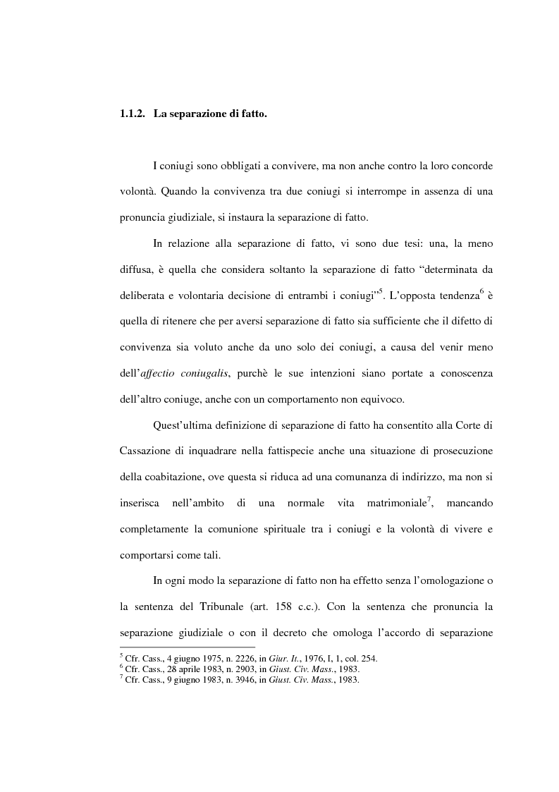 Anteprima della tesi: L'affidamento della prole nella separazione giudiziale dei coniugi, Pagina 7