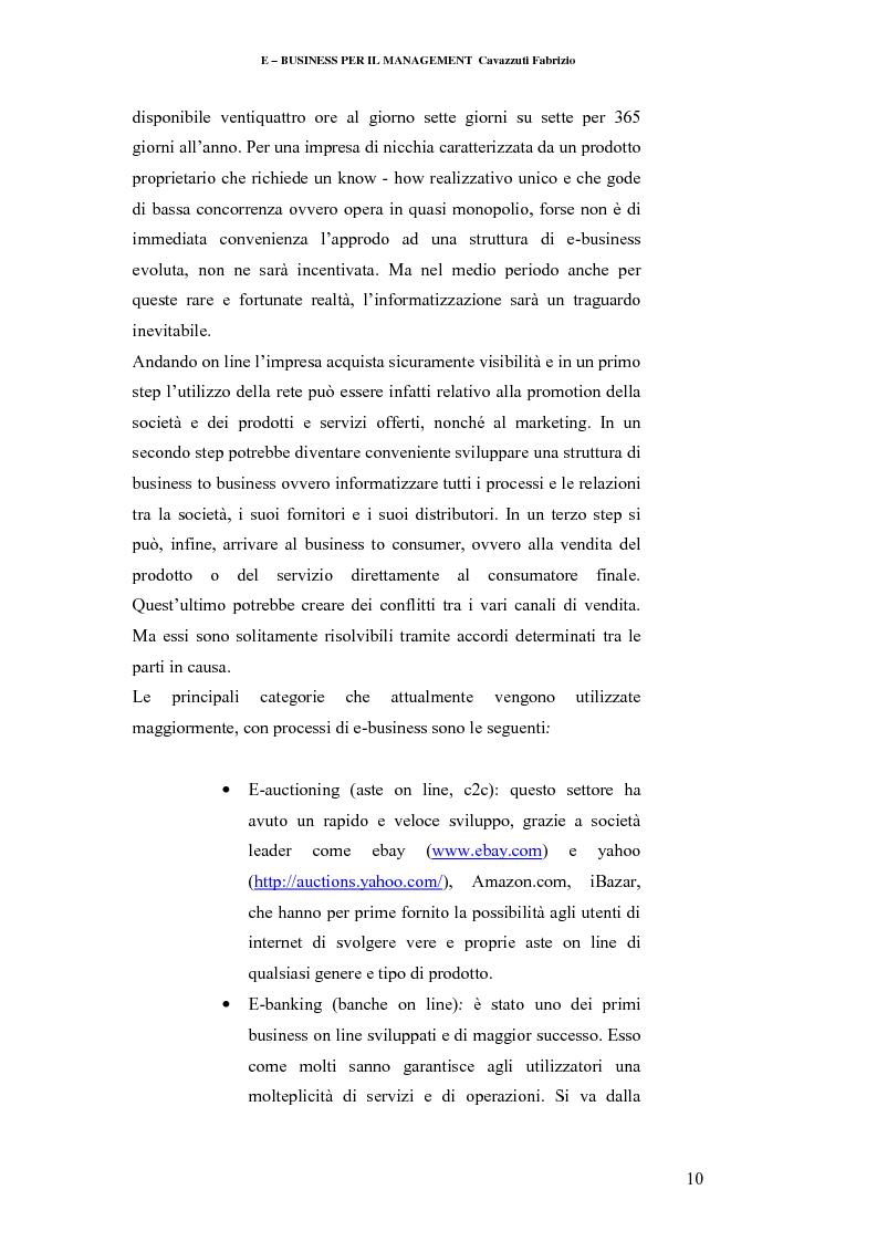 Anteprima della tesi: E-business per il management, Pagina 10