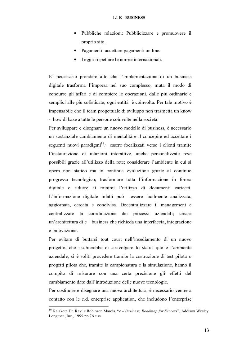 Anteprima della tesi: E-business per il management, Pagina 13