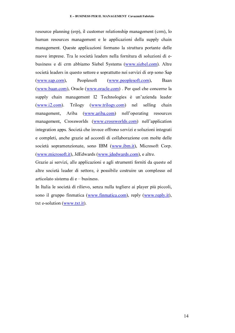 Anteprima della tesi: E-business per il management, Pagina 14