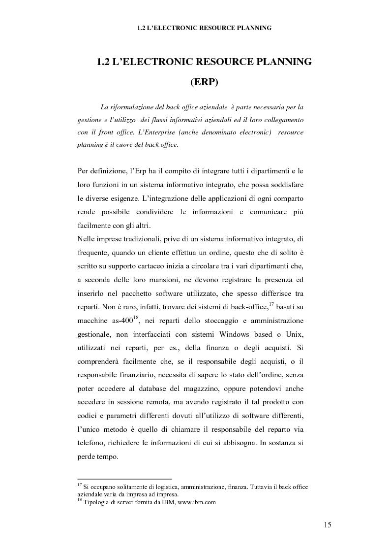 Anteprima della tesi: E-business per il management, Pagina 15
