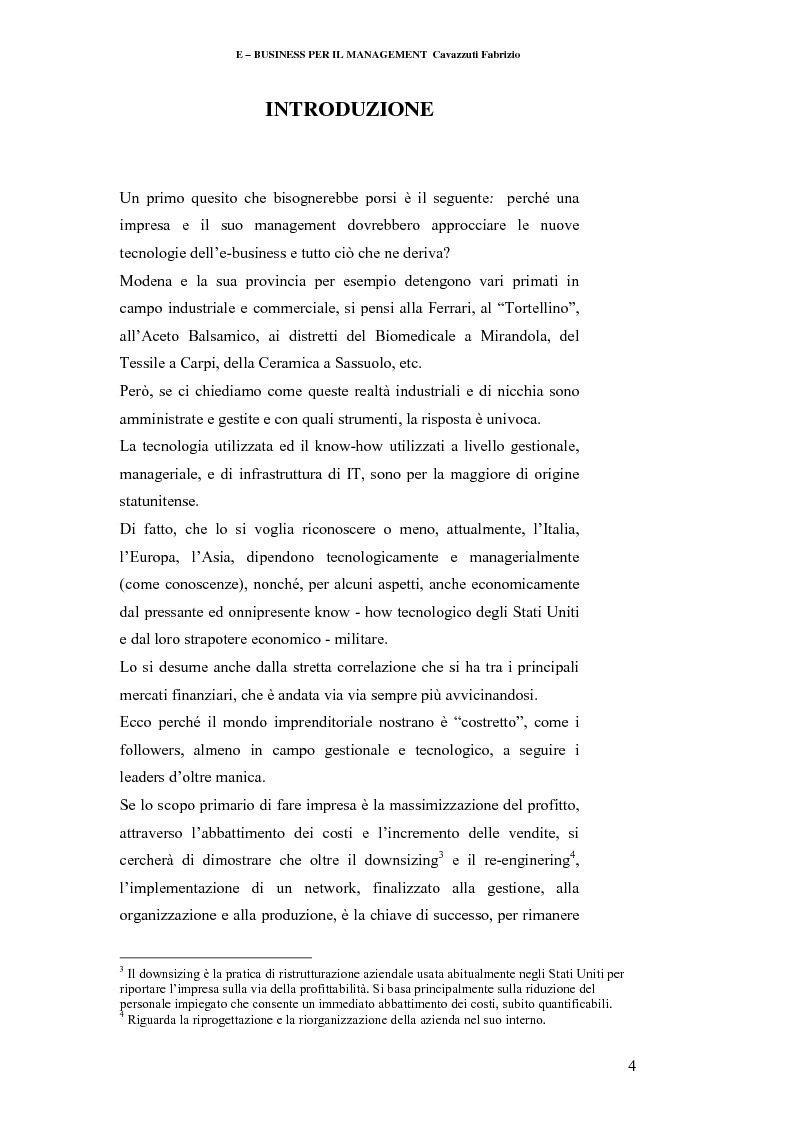 Anteprima della tesi: E-business per il management, Pagina 4