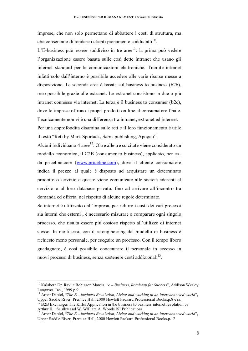 Anteprima della tesi: E-business per il management, Pagina 8