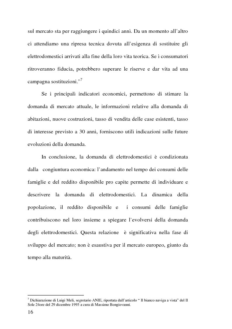 Anteprima della tesi: Strategie competitive nell'industria europea degli elettrodomestici bianchi, Pagina 15