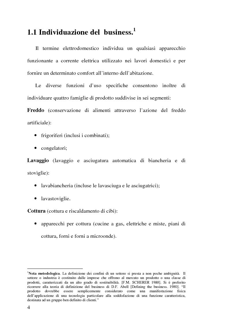 Anteprima della tesi: Strategie competitive nell'industria europea degli elettrodomestici bianchi, Pagina 3