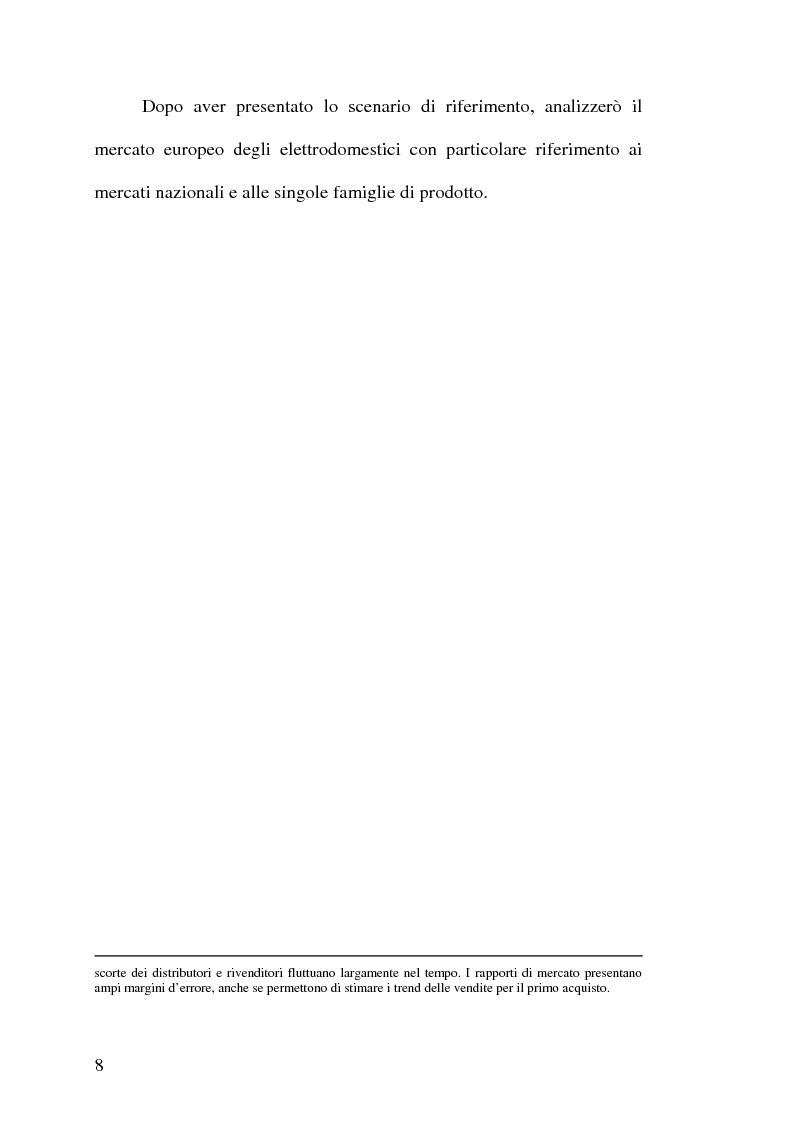 Anteprima della tesi: Strategie competitive nell'industria europea degli elettrodomestici bianchi, Pagina 7
