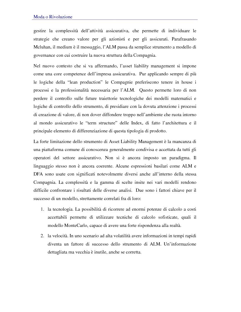 Anteprima della tesi: Asset liability management per le compagnie di assicurazione sulla vita. Un caso operativo, Pagina 4