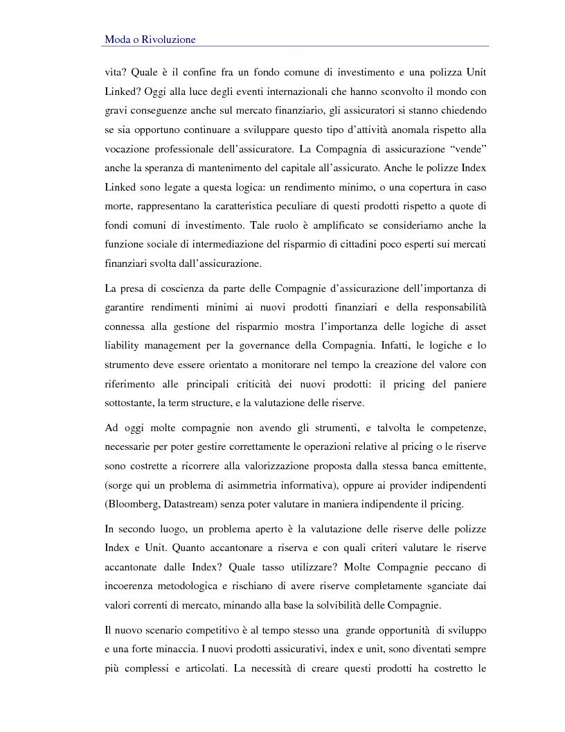 Anteprima della tesi: Asset liability management per le compagnie di assicurazione sulla vita. Un caso operativo, Pagina 7